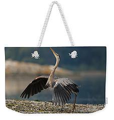 Blue Heron Dance Weekender Tote Bag