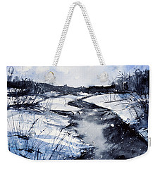 Blue Weekender Tote Bag by Judith Levins