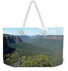 Blue Mountains Weekender Tote Bag by Carla Parris