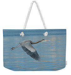 Blue On Blue Weekender Tote Bag by Fraida Gutovich