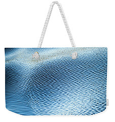 Weekender Tote Bag featuring the photograph Blue On Blue by Karen Wiles