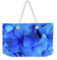 Weekender Tote Bag featuring the photograph Blue by Nancy Patterson