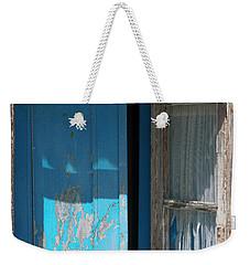 Blue Window Weekender Tote Bag by Edgar Laureano