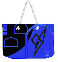 Weekender Tote Bag featuring the photograph  Blue Windows by Tina M Wenger