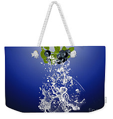 Blueberry Splash Weekender Tote Bag