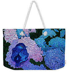 Weekender Tote Bag featuring the painting Bluebird by Michael Frank