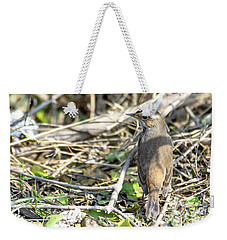 Bluethroat Weekender Tote Bag by Pravine Chester