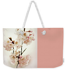 Weekender Tote Bag featuring the photograph Blushing Blossom by Jessica Jenney