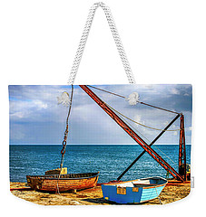 Boat Crane At Portland Uk Weekender Tote Bag