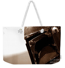 Weekender Tote Bag featuring the photograph Boba Fett Helmet 33 by Micah May