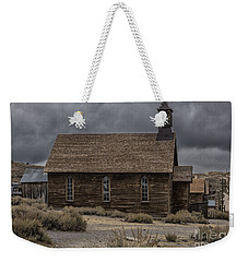 Weekender Tote Bag featuring the photograph Stormy Day In Bodie State Historic Park by Sandra Bronstein