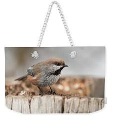 Boreal Chickadee Weekender Tote Bag