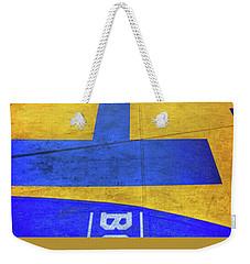 Weekender Tote Bag featuring the photograph Boston Marathon Finish Line by Joann Vitali