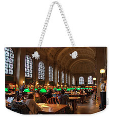 Weekender Tote Bag featuring the photograph Boston Public Library by Joann Vitali
