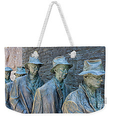 Bread Line Sculpture Weekender Tote Bag by Patricia Hofmeester