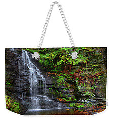 Weekender Tote Bag featuring the photograph Bridal Veil Falls by Raymond Salani III