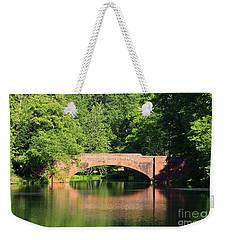 Bridge Reflection In The Spring Weekender Tote Bag