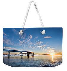 Bridge Sunrise Weekender Tote Bag