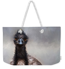 Weekender Tote Bag featuring the photograph Bright Eyes by Robin-Lee Vieira