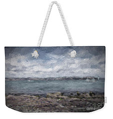 Weekender Tote Bag featuring the photograph Brixham Harbour by Patricia Hofmeester