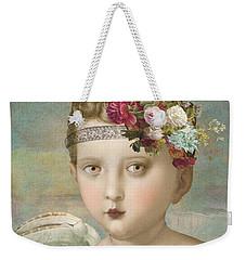 Weekender Tote Bag featuring the digital art Broken Wing by Lisa Noneman