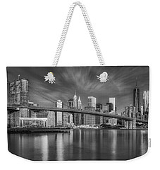 Brooklyn Bridge From Dumbo Weekender Tote Bag by Susan Candelario