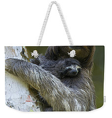 Weekender Tote Bag featuring the photograph Brown-throated Three-toed Sloth by Suzi Eszterhas