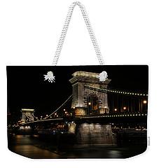 Budapest At Night. Weekender Tote Bag by Jaroslaw Blaminsky