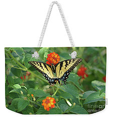 Butterfly And Flower Weekender Tote Bag