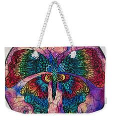 Butterfly Mandala Weekender Tote Bag