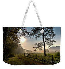 Weekender Tote Bag featuring the photograph Cades Cove Sunrise by Douglas Stucky