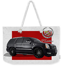 Cadillac Escalade With 3 D Badge  Weekender Tote Bag