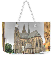 Weekender Tote Bag featuring the pyrography  Cafedral by Yury Bashkin