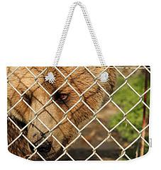 Caged Bear Weekender Tote Bag