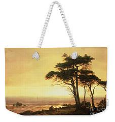 California Coast Weekender Tote Bag by Albert Bierstadt