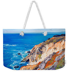California Coastline Ridges Weekender Tote Bag