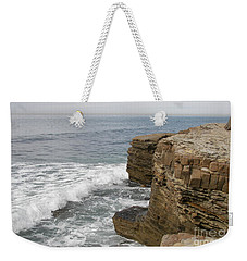 Weekender Tote Bag featuring the photograph California Seascape by Carol  Bradley