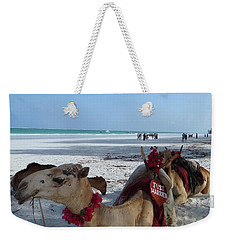 Camel On Beach Kenya Wedding Weekender Tote Bag