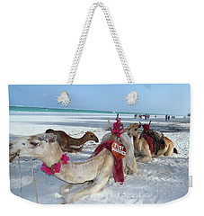 Camel On Beach Kenya Wedding4 Weekender Tote Bag
