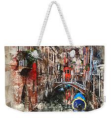 Canal In Venice Weekender Tote Bag