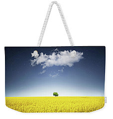 Weekender Tote Bag featuring the photograph Canola Field by Bess Hamiti