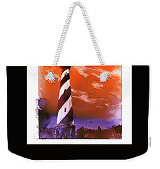 Weekender Tote Bag featuring the painting Cape Hatteras Lighthouse by Ryan Fox