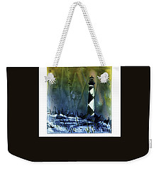 Weekender Tote Bag featuring the mixed media Cape Lookout Lighthouse by Ryan Fox