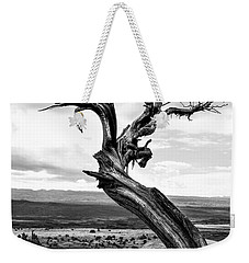 Weekender Tote Bag featuring the photograph Caressed By Lightning by Lon Casler Bixby
