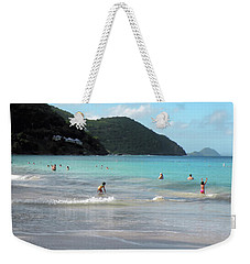 Weekender Tote Bag featuring the photograph Caribbean Beach Scenic by Rosalie Scanlon