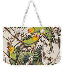 Carolina Parrot Weekender Tote Bag by John James Audubon