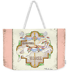 Carousel Dreams - Horse Weekender Tote Bag by Audrey Jeanne Roberts