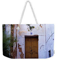 Weekender Tote Bag featuring the photograph  Cats At 22 Ronda Spain by Jacqueline M Lewis