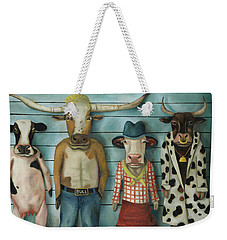 Cattle Line Up Weekender Tote Bag