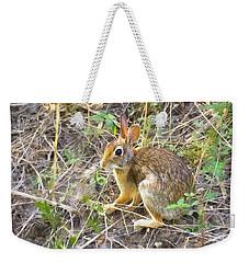 Cedar Hill Bunny Weekender Tote Bag by Ricky Dean